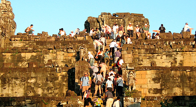 Mass Tourism is taking over Cambodia's Angkor Wat