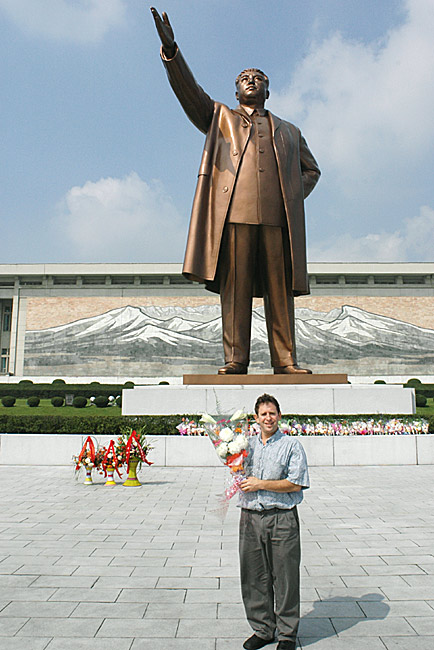 Paying tribute to the Great Leader Kim Il Sung  by Ron Gluckman in North Korea