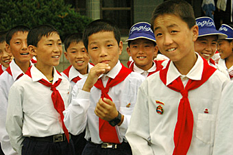 North Korean children  by Ron Gluckman in North Korea