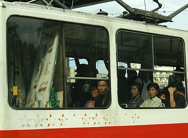 Pyongyang tram  by Ron Gluckman in North Korea